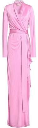 Emilio Pucci Draped Stretch-Jersey Wrap Gown