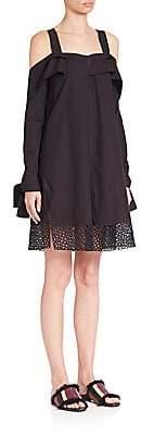 Proenza Schouler Women's Cold-Shoulder Cotton Poplin Dress