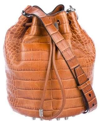Alexander Wang Embossed Leather Alpha Bucket Bag
