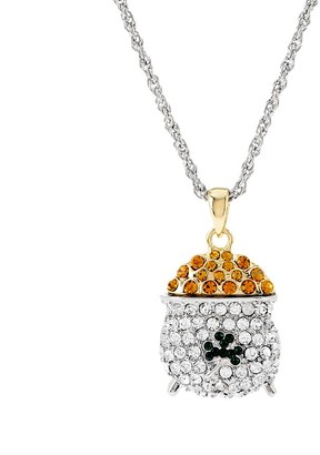 Killarney Crystal Pot of Gold Pendant