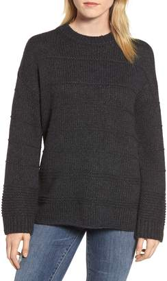 Velvet by Graham & Spencer Stripe Stitch Wool Alpaca Blend Sweater