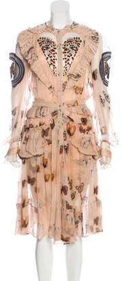 Givenchy Silk Butterfly Print Dress