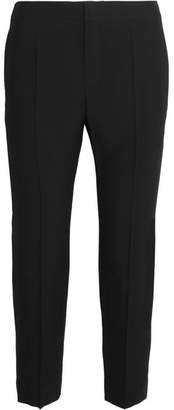Chloé Cropped Crepe Straight-leg Pants - Black
