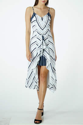 Adelyn Rae Ava Striped Contrast Slip Midi Dress