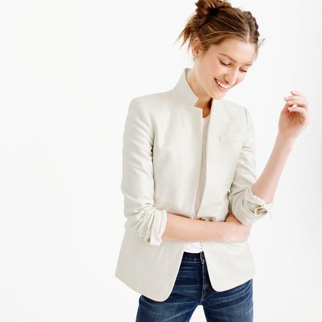 J.CrewTall Regent blazer in metallic linen