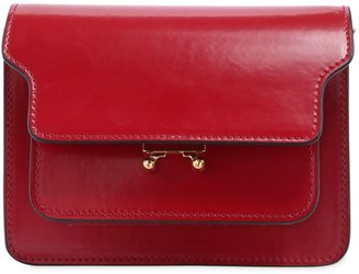 Marni Mini Trunk Patent Leather Shoulder Bag