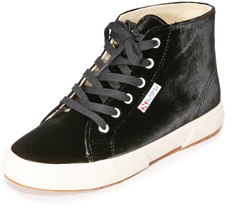 Superga 2095 Velvet High Top Sneakers $139 thestylecure.com