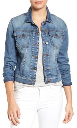 Petite Women's Kut From The Kloth Helena Denim Jacket $79 thestylecure.com