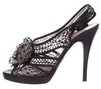 Valentino Floral Mesh Sandals
