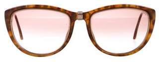 Christian Dior Logo Gradient Cat-Eye Sunglasses