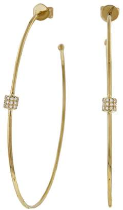 Lee Jones Collection Large Fairy Dust Hoop Earrings - Yellow Gold