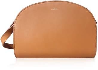 A.P.C. Half Moon Smooth Leather Crossbody Bag