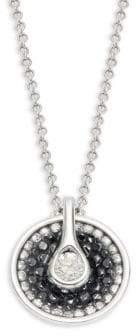 Black Diamond Opus 18K White Gold, Diamond & Pendant Necklace