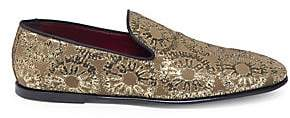 Dolce & Gabbana Dolce& Gabbana Dolce& Gabbana Men's Metallic Pattern Slip-On Loafers