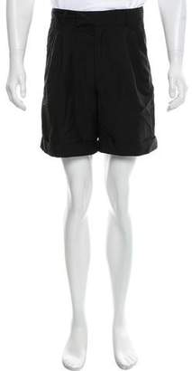 Kris Van Assche Pleated Wool Shorts