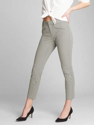 Gap Signature Skinny Ankle Pants in Heathered Twill