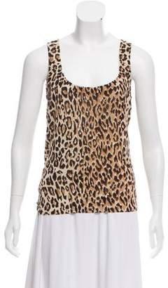 Dolce & Gabbana Leopard Print Sleeveless Tank