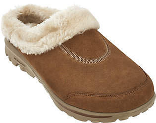 Skechers GOwalk Suede Faux Fur Clogs w/MemoryForm - Embrace