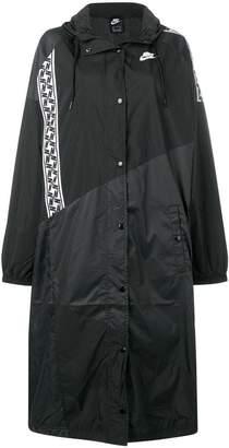Nike taped hooded track jacket