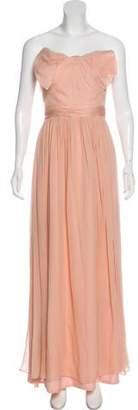 Marchesa Sleeveless Silk Dress