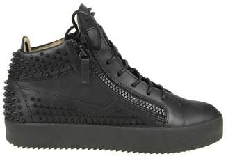 Giuseppe Zanotti Design Sneakers may London In Skin With Black Studs