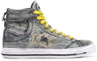 Diesel denim hi-top sneakers