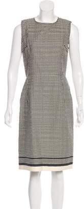 Lanvin Polka Dot Sleeveless Dress