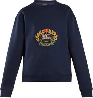 Burberry Unisex crest-embroidered round-neck sweatshirt
