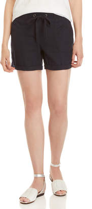 Per Se Drawstring Linen Shorts