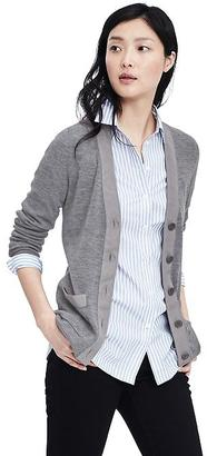 Extra-Fine Merino Wool Ribbed Cardigan $98 thestylecure.com