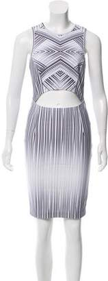 Torn By Ronny Kobo Striped Cutout Dress