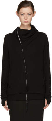 Boris Bidjan Saberi Black Zipper 2 Long Hoodie