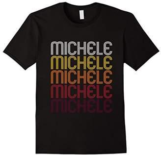 Michele Retro Wordmark Pattern - Vintage Style T-shirt