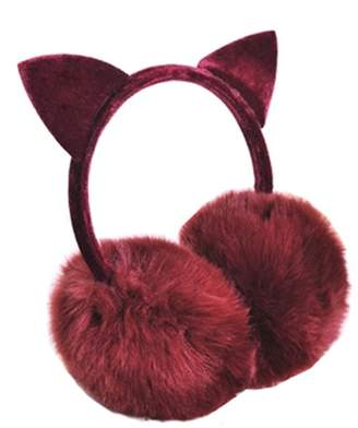 Express Kylin Lovely Cat Ears Super Soft Earmuffs Winter Earmuffs Ear Warmers