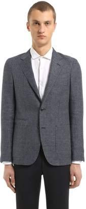 Ermenegildo Zegna Textured Linen & Wool Délavé Jacket