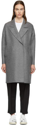 Harris Wharf London Grey Oversized Fitted Coat