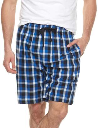Chaps Big & Tall Plaid Soft-Touch Woven Sleep Shorts