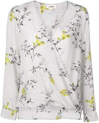 L'Agence floral print blouse