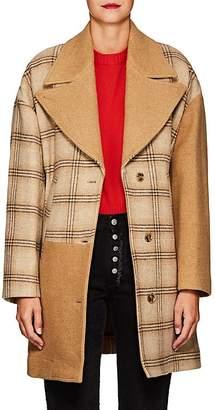 MM6 MAISON MARGIELA Women's Oversized Patchwork Wool Cocoon Coat