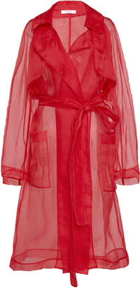 Nevenka Bravery Silk-Organza Trench Coat