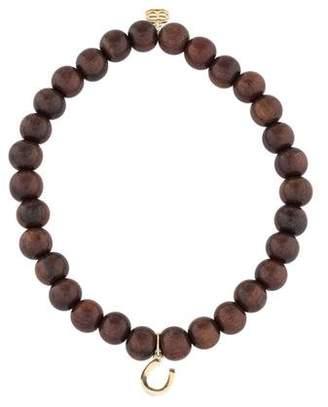 Sydney Evan 14K Wood Horseshoe Bead Bracelet