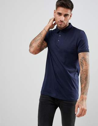 Asos Design DESIGN jersey polo in navy