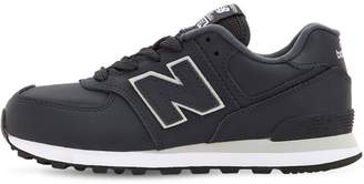 New Balance 574 LEATHER LACE-UP SNEAKERS