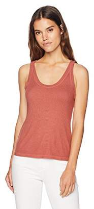 Monrow Women's Rib Scoop Tank