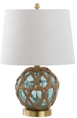 Highland Dunes Ginevra LED Glass/Rope 22 Table Lamp