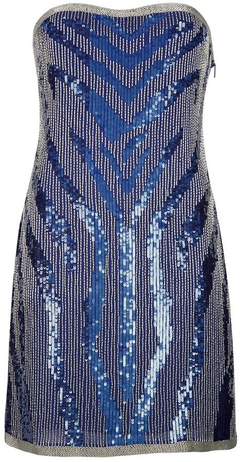 beaded bandeau dress