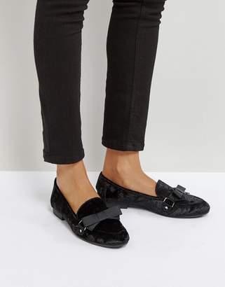 Qupid Bow Velvet Slipper Flat Shoe