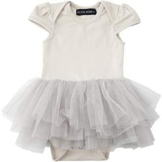 Olivia Rose Onesie Tutu Dress Grey Cloud 3-6 Months
