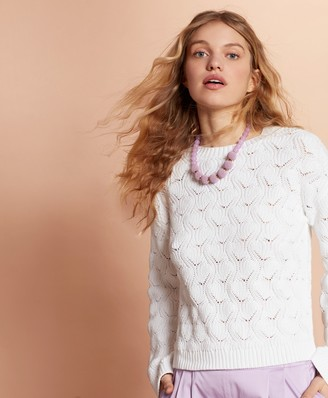 Brooks Brothers Cotton Pointelle Sweater