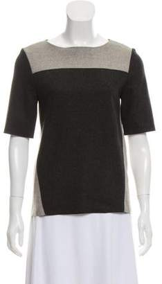 Helmut Lang Wool Two-Toned Top